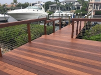 IPE Decking with Stainless Steel Cables